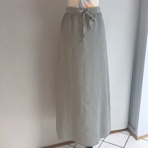 MAX STUDIO Maxi Linen Skirt NWT